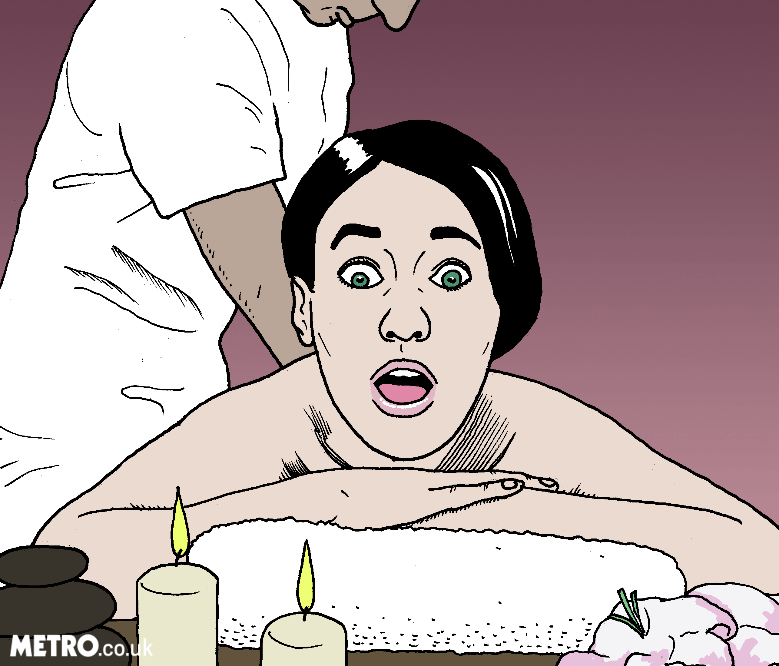 Woman massages penis with vulva