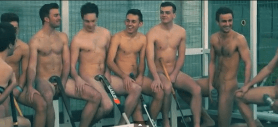 Fighting guys stripped naked