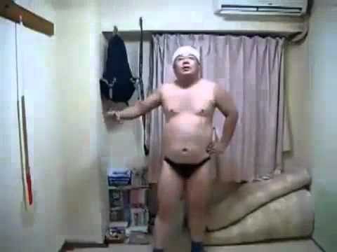 Funny dancing naked guy pic